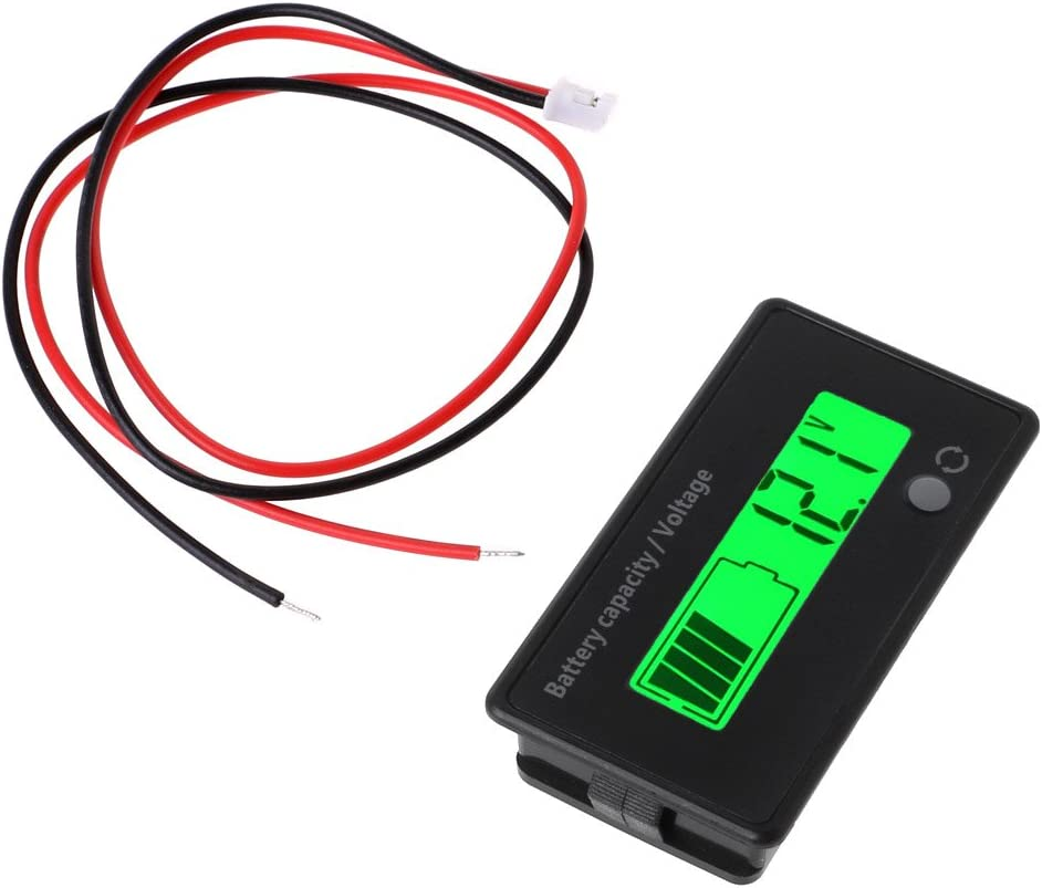 12V-84V Lead-acid Battery Capacity Tester Indicator - Voltage Meter Voltmeter with LCD Monitor By Beinil