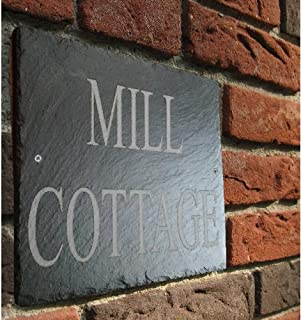Natural Slate Traditionally Engraved House Door or Gate Sign 45cm x 10cm