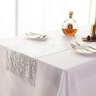 KANKOO Chemin de Table Mariage Linge de Table Solide Couleur Chemin de Table Automne Chemin de Table Table à Manger pièce ...