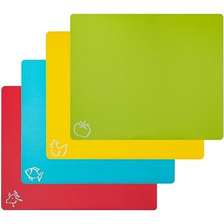 "Multi-Pack Thin Clear Flexible Plastic Cutting Board Mat 12/"" x 15/"""