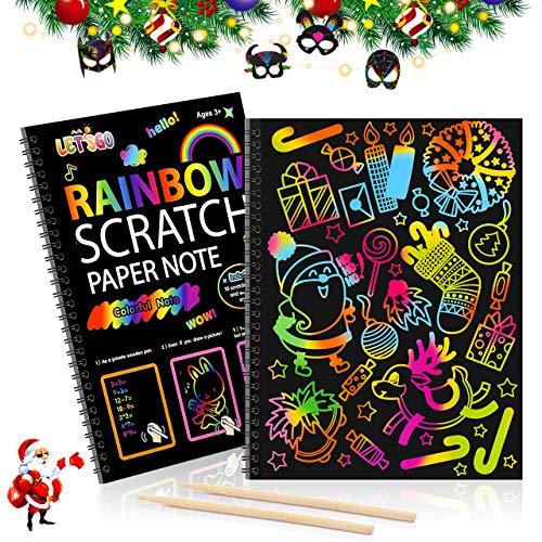 LIWIN Giocattoli per Bambina di 2-10 Anni,Set di Carta da Raschiare per Bambini Bambina 2-10 Anni Giocattoli Bambino 2-10 Anni Regali per Bambino di 2-10 Anni Bambino Regali di Natale Bambina 3-9 Anni