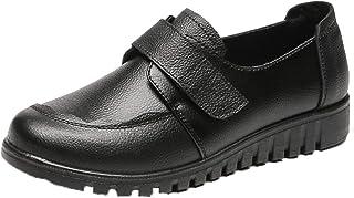 Zapatos de Cuero para Mujer Primavera Otoño Zapatos de Vestir de Trabajo Antideslizantes cómodos Zapatos Planos Transpirab...