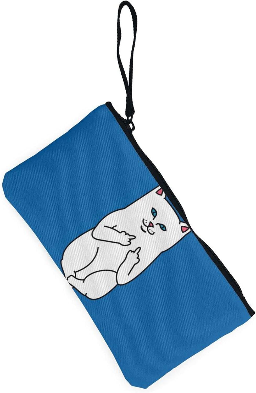 AORRUAM Funny cat Canvas Coin Purse,Canvas Zipper Pencil Cases,Canvas Change Purse Pouch Mini Wallet Coin Bag