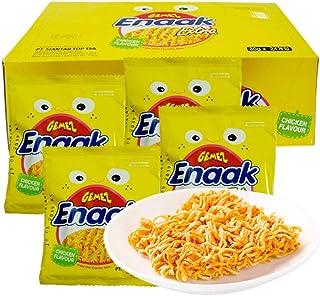 印尼进口GEMEZ Enaak Extra 点心面 网红小食品 小鸡面 干脆面 (小鸡面烤鸡味 30g*24袋)