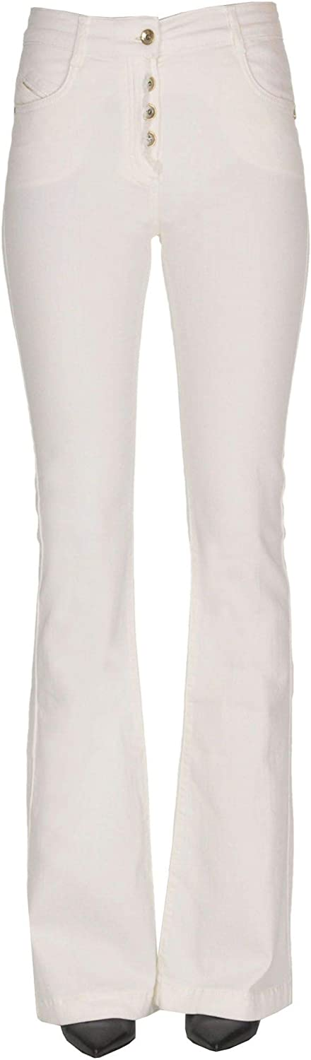 Patrizia Pepe Women's MCGLDNM000005016E White Cotton Pants