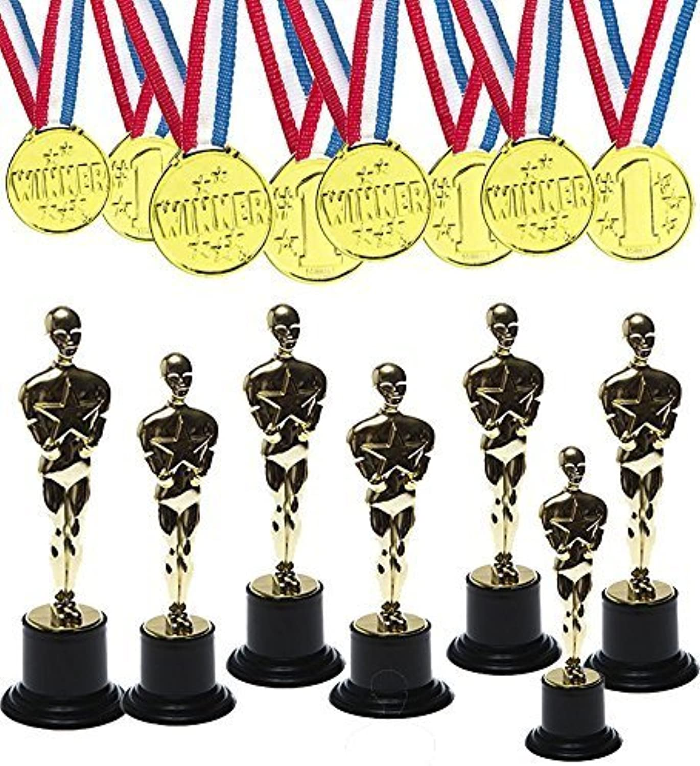 mas barato oro Award Trophy with oro Winner Winner Winner Medals for Award Ceremony's or Party (12 Pack) by FunnyPartyHats  Envío y cambio gratis.