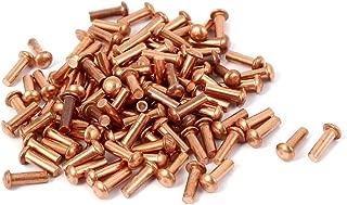 25 remaches de cobre macizo de cabeza plana Sourcingmap