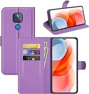 جراب واقي قلاب أفقي الملمس لهاتف Motorola Moto G Play Litchi مع حامل وفتحات بطاقة ومحفظة اكسسوارات الهاتف الخليوي