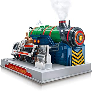 Playz Train Steam Engine Model Kit to Build for Kids with Real Steam, STEM Science Kits for Kids, Model Engine Kits for Adults and Educational Hobby Gift, Mini Engine Set, Engineering Toy Boys & Girls