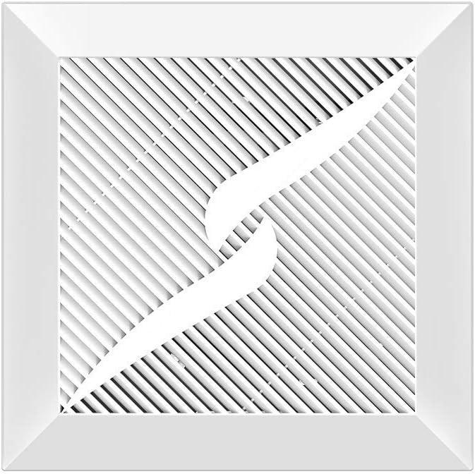 DZX Ventilador Extractor de Pared, Ventilador Fino y silencioso para baño, Ventilador de Escape Integrado en el Techo en el hogar, Cocina, Ventilador de ventilación de Humo