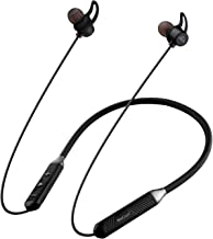 WeCool N1 Wireless Earphones with Dynamic Drivers for Immersive Music Experience IPX5 Sweatproof 12 Hours Playtime Flexible Neckband Headphones Black