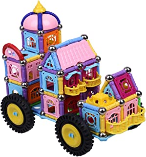 1087 Pieces of Castle Cars in Boxes, Children's Educational Toys, Assembled with Magnet Blocks, Suitable for Families and ...