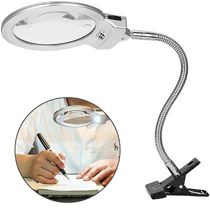 b71d0f08a81a06 Lámpara de Lupa LED Plegable 5X Luz lupa para Escritorio Lectura Periódicos  Soldadura Trabajo Reparación Maquillaje