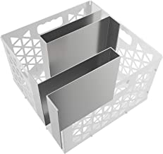 SHINESTAR Minion Method for Oklahoma Joe's Firebox Basket- Stainless Steel Maze Bars for Most Charcoal Ash Basket- 2 Pack- 8 W x 5.5 D x 7.5 H