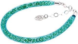 Bracciale Azzurro in Argento 925 con Cristalli Luminosi Collezione Tennis