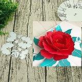Gmgqsago fustelle fiore 3D DIY metal cutting Dies stencil scrapbook Paper Cards album Craft Decor–argento