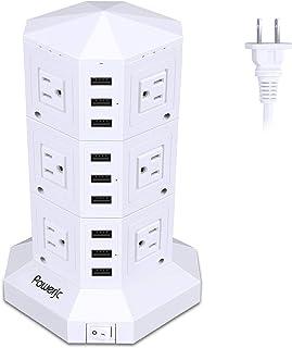 日本市場で強力 電源タップ垂直コンセントタワータイプオフィスや会議用..