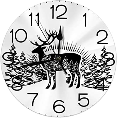 TOOGOO Ballet Temps Horloge Murale Ballerine Danseuse Ballet Horloge D/écorative Montre Murale Filles Chambre Danse Studio D/écor Ballet Danseuses Cadeau