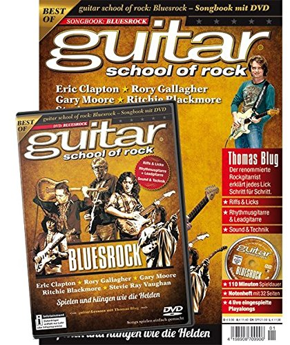 guitar school of rock: Bluesrock: Songbook mit DVD