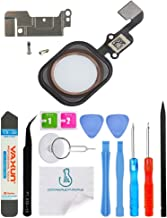 OmniRepairs Home Button Flex Cable Replacement with Rubber Gasket Compatible for iPhone 6s and iPhone 6s Plus with Screws (2) and Repair Toolkit (Rose Gold)