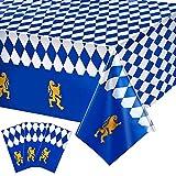 3 Stücke Plastik Bierfest Bayerische Flagge Check Tischdecke für Bierfest Party Dekorationen & Zubehör, 54 x 108 Zoll