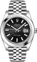 Men's Rolex Datejust 41 Black Dial Jubilee Bracelet Luxury Watch - Ref. 126300