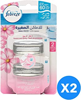 Febreze Small Spaces - Flower And Spring Refill - Pack of 2-Pieces (2X5.5ml)