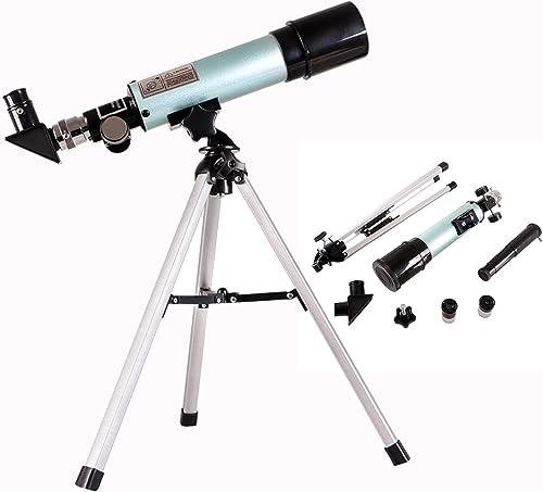2021 Telescope for Kids, 50mm(18X-60X) Coated online Optics Refractor Telescope with Adjustable Tripod, Eyepieces and Finder Scope - Monocular Refracting Telescope for Adults online sale & Beginners,Refracting Telescope online
