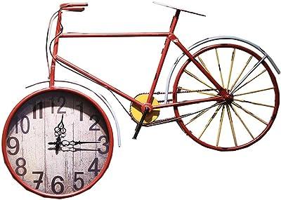 AOUNSC Bicicleta Reloj de Pared Silencioso Sin tictac Grandes ...