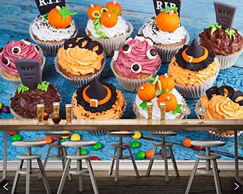Süßigkeiten Süßigkeiten Kuchen Halloween Cupcake Essen 3D Wallpaper Für Dessert Shop Restaurant Cafe Bar Wohnzimmer Küche