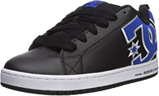 DC Men's Court Graffik Se Skate Shoe, Black/Blue, 8.5 M US