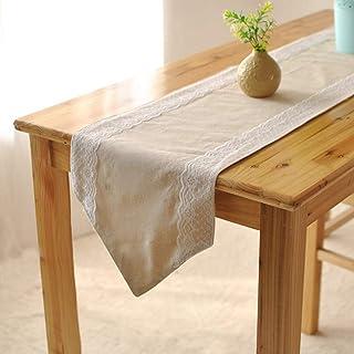 no brand Décoration Table Fete Chemin de Table en Lin Toile de Jute Linge de Table Lin Coton Decor Salon Maison Restaurant...