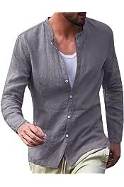 desolateness Mens Casual Cotton Short Sleeve Slim Fit Button Down Plaid Dress Shirts