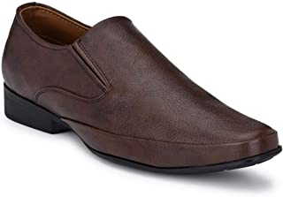 Park Avenue Solid Men's Brown Coloured Synthetic Formal Shoes