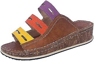 696e8558ace7da Alaso Grande Taille Sandale pour Femmes, Chaussons à Talon Ouvert Femme  d'été Pantoufles