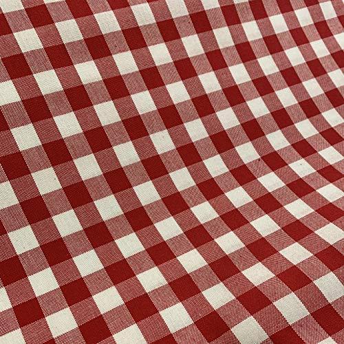 Tela de cuadros Vichy   2,50m x 1,50m   cuadro mediano   Color a escoger   Para la confección de manteles, proyectos de costura, bordado español y manualidades   de DELICATELA (ROJO)