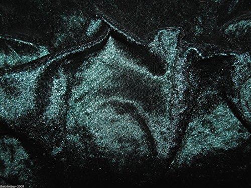 Gecrushter Samt Stoff, grün, Stretch, Velour, inkl. 150 cm breit, ca. 3,75 Meter-Free UK Post