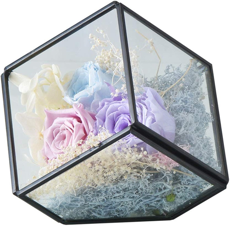 al precio mas bajo TMY DIY 3 Eternal Eternal Eternal Flower Square Tabletop decoración Cubierta de Vidrio LED luz de la Noche Regalo de cumpleaos  online barato