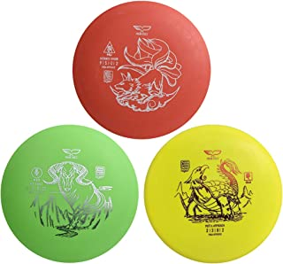 Yikun Discs Professional Disc Golf Set 3 in 1|Includes Driver,Mid-Range and Putter|165-176g|Perfect Outdoor Games for Kids...