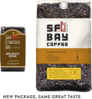 SF Bay Coffee Breakfast Blend Whole Bean 2LB (32 Ounce) Medium Roast (Packaging May Vary)