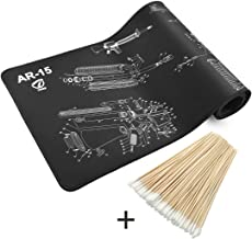 Twod AR-15 Gun Cleaning Mat Large & Cleaning Kit/Cleaning Supplies with Accessories and Tools Pouch Rifle|AR15|AR 15|M16