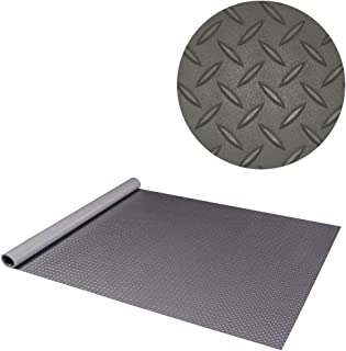 RoughTex Diamond Deck 86057 Charcoal Textured Roll Out Garage Floor Mat, Various Sizes Available