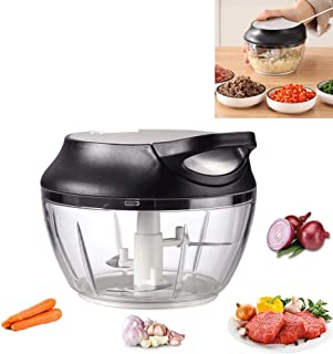 Manual Food Chopper by AUNKIER, Profession Pull String Chopper Hand Held Chopper/Mincer/Blender to Chop Onions, Garlic, Salad, Nuts, Vegetables, Fruits