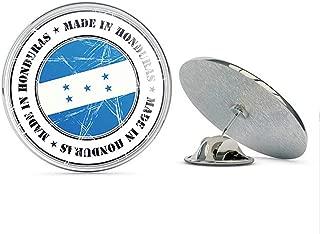 TG Graphics Made in Honduras Grunge Flag Stamp Art Round Metal Lapel Pins Cute Cool Hat Shirt Pin Tie Tack Pinback