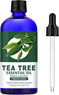 Sponsored Ad - 100% Pure Tea Tree Essential Oil (Large 5 oz) - Premium Grade Tea Tree Oil for Skin, Hair, Dry Scalp, Nail,...