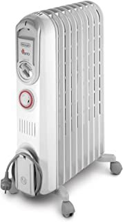 De'Longhi Vento V550920T - Calefactor, 2000 W, 60 m³, blanco