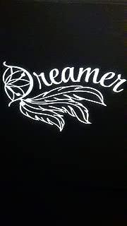 Chase Grace Studio Dream Catcher Dreamer Vinyl Decal Sticker|WHITE| Cars Trucks Vans SUV Laptops Wall Art|7