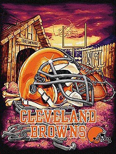 Wood Puzzle 500 Piece - Jigsaw Puzzle for Adult and Kids - American Football Wooden Puzzle PT01-Q8 Cleveland Browns Nfl Pattern