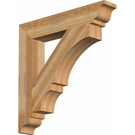 Amazon Com Ekena Millwork Bkt04x24x36fst01swr Funston Traditional Smooth Bracket 3 5 Width X 24 Depth X 36 Height Western Red Cedar Home Improvement
