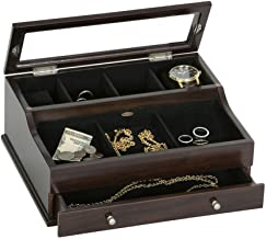 Mele & Co. Hampden Jewelry Valet, Mahogany